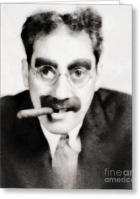 Groucho Marx, Vintage Hollywood Legend Greeting Card