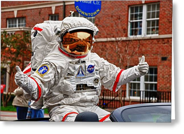Ground Control To Major John Greeting Card by Frank Feliciano