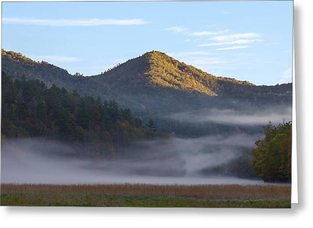 Ground Fog In Cataloochee Valley - October 12 2016 Greeting Card
