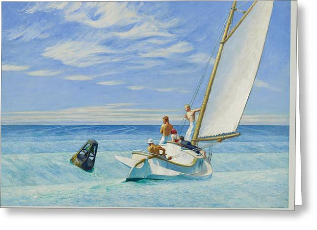 Ground Swell Greeting Card by Edward Hopper