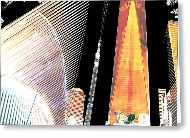 Ground  Zero Freedom Tower Formerly World Trade  Centre Wtc New York Photo Taken On July 4 2015 Usa  Greeting Card by Navin Joshi