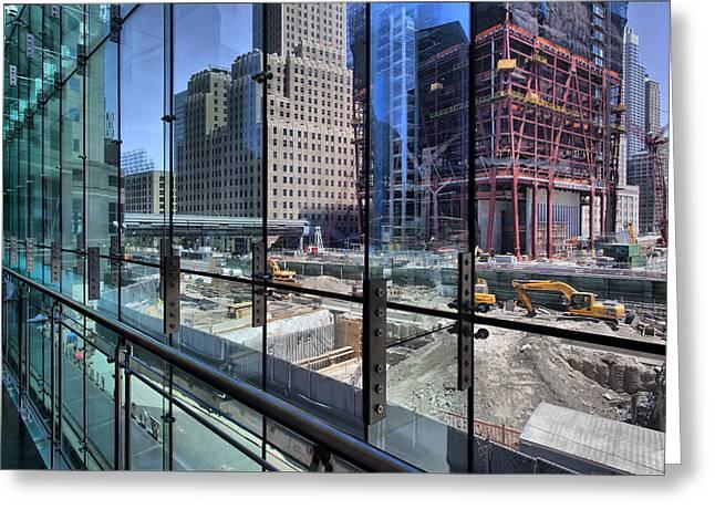 Ground Zero From World Financial Center Greeting Card by Robert Ullmann