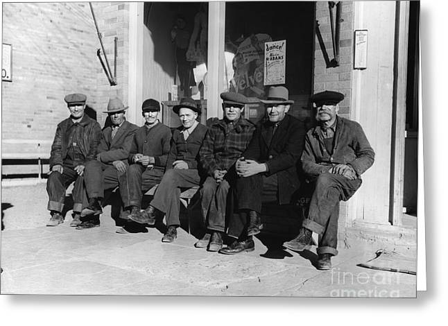 Group Of Old Men In Hats, C.1920-30s Greeting Card