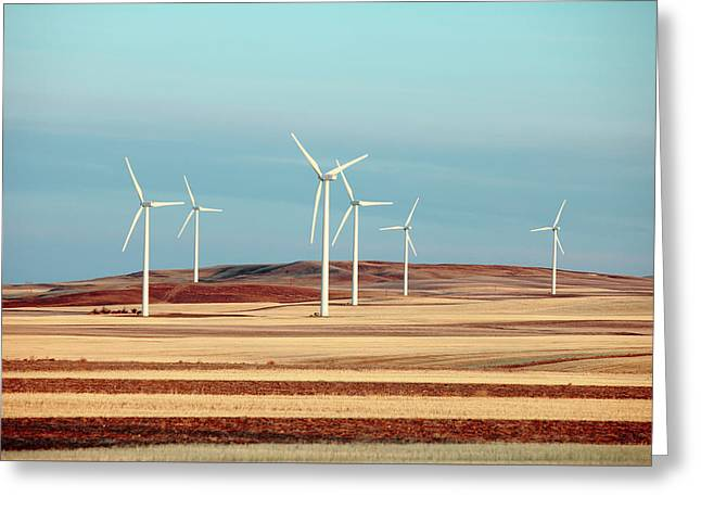 Group Of Turbines Greeting Card