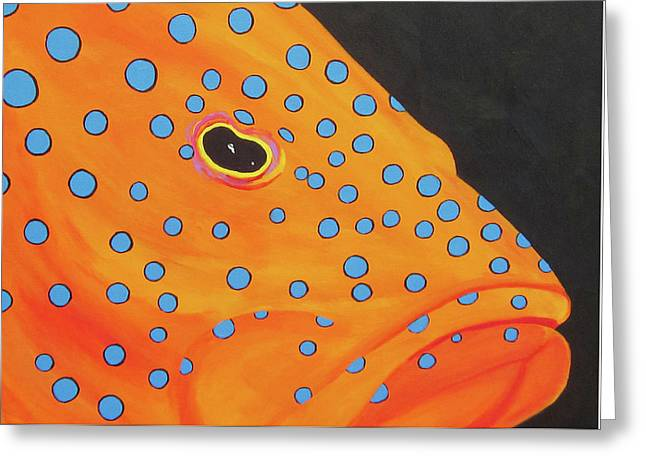 Grouper Head Greeting Card