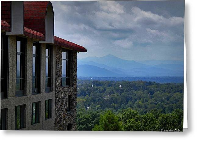 Grove Park Inn View Greeting Card by Matt Taylor