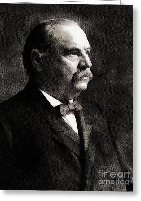 Grover Cleveland, President United States By John Springfield Greeting Card