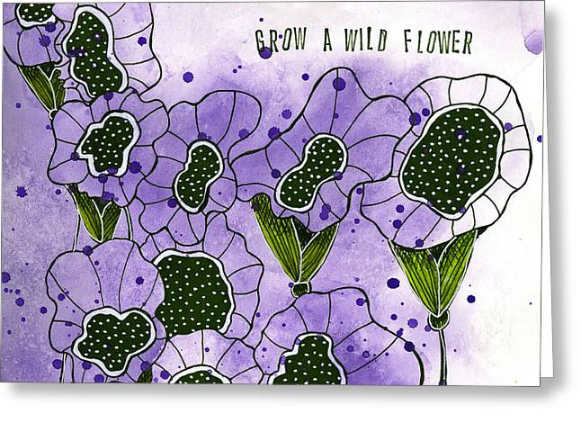 Grow A Wildflower Greeting Card by Tonya Doughty