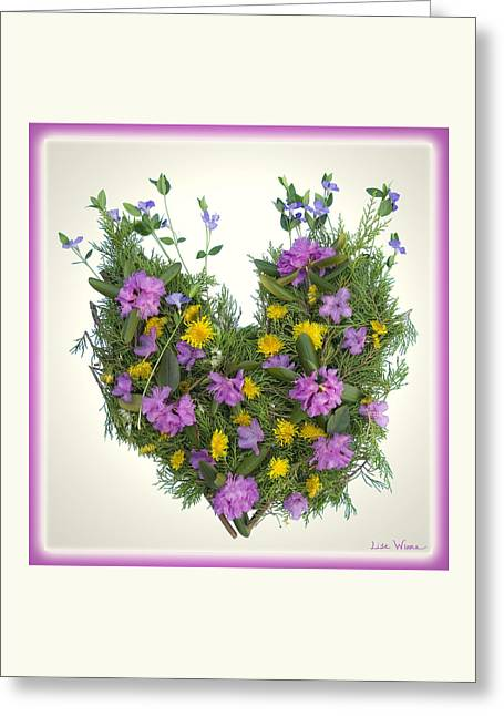 Growing Heart Greeting Card by Lise Winne