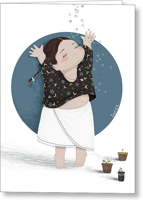 Growing Sprouts Greeting Card