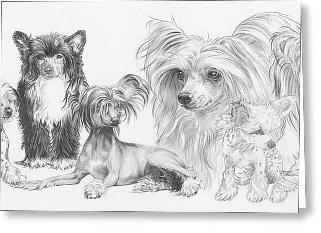 The Chinese Crested And Powderpuff Greeting Card