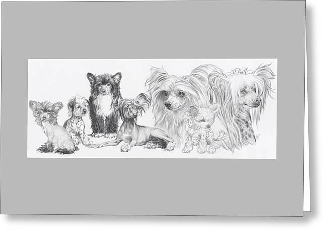 Growing Up Chinese Crested And Powderpuff Greeting Card