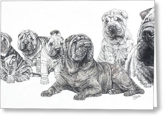 Mister Wrinkles And Family Greeting Card