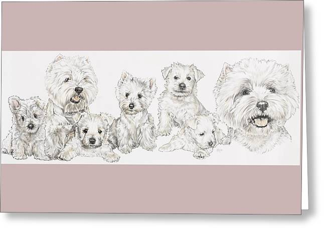 Growing Up West Highland White Terrier Greeting Card by Barbara Keith