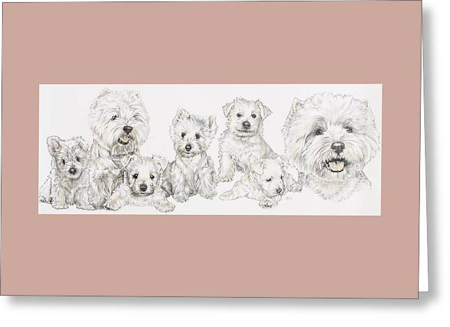 Growing Up West Highland White Terrier Greeting Card