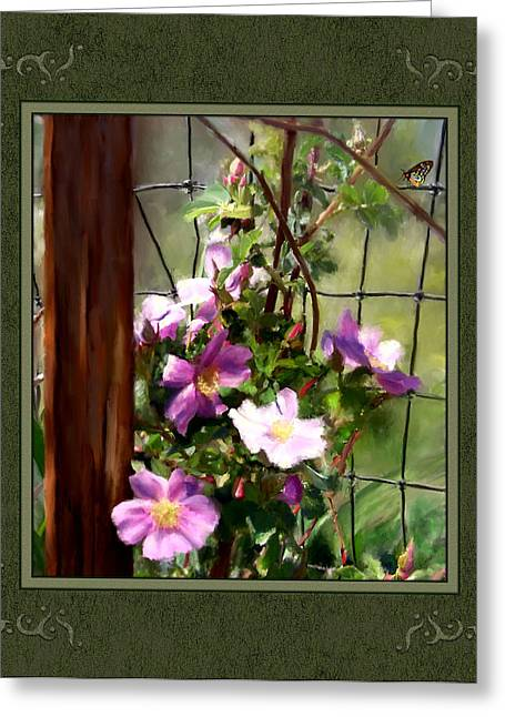 Greeting Card featuring the digital art Growing Wild by Susan Kinney