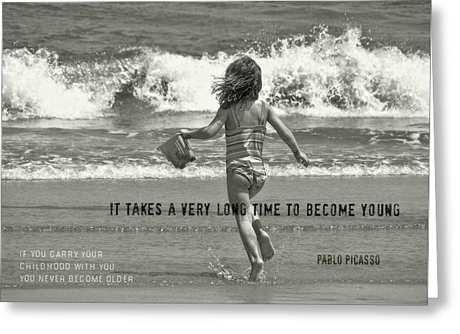 Growing Young Quote Greeting Card