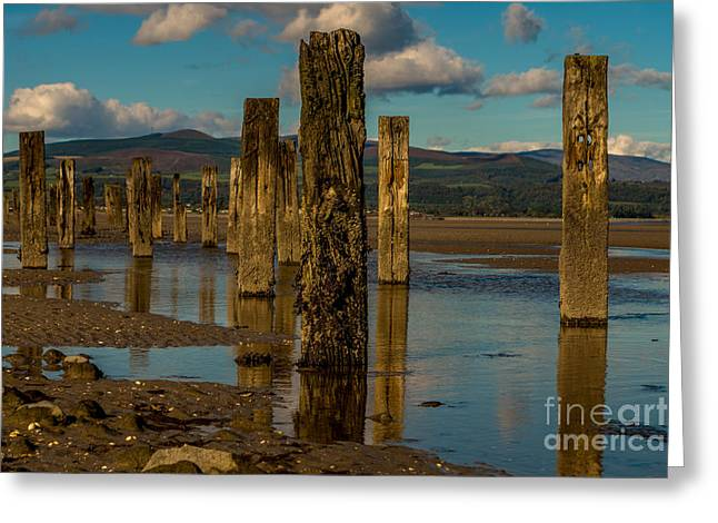 Groynes In Colour 1 Greeting Card