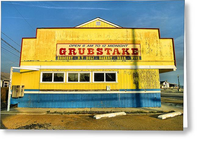 Grocery Store Photographs Greeting Cards - Grubstake Greeting Card by Steven Ainsworth