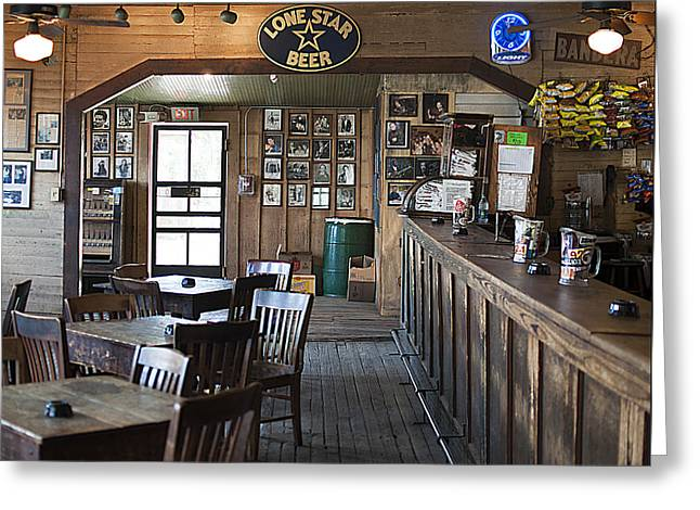 Gruene Hall Bar Greeting Card