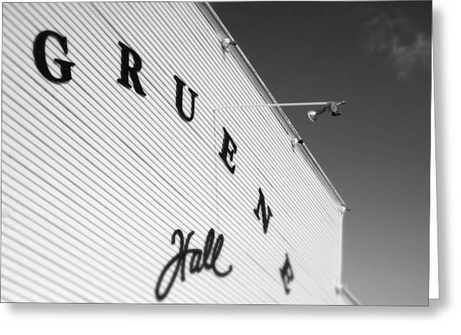 Gruene Hall Greeting Card by John Gusky