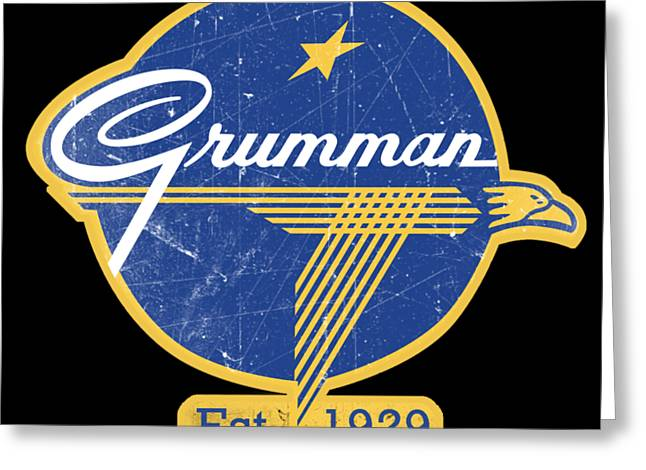 Grumman Est 1929 Distressed Greeting Card