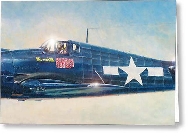 Grumman F6f-5 Hellcat Greeting Card