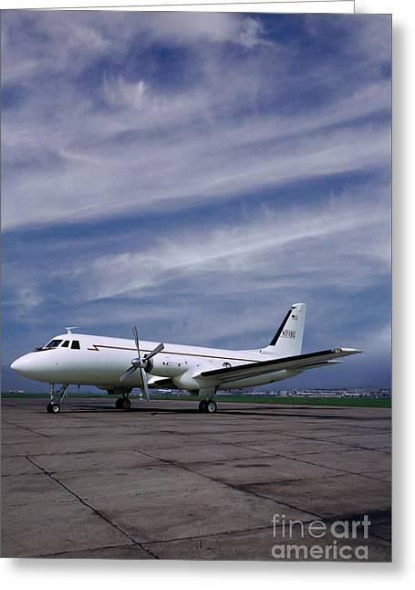 Grumman G-159 Gulfstream Patiently Waits, N719g Greeting Card by Wernher Krutein