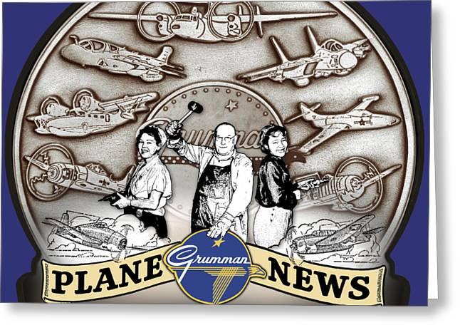 Grumman Plane News Greeting Card