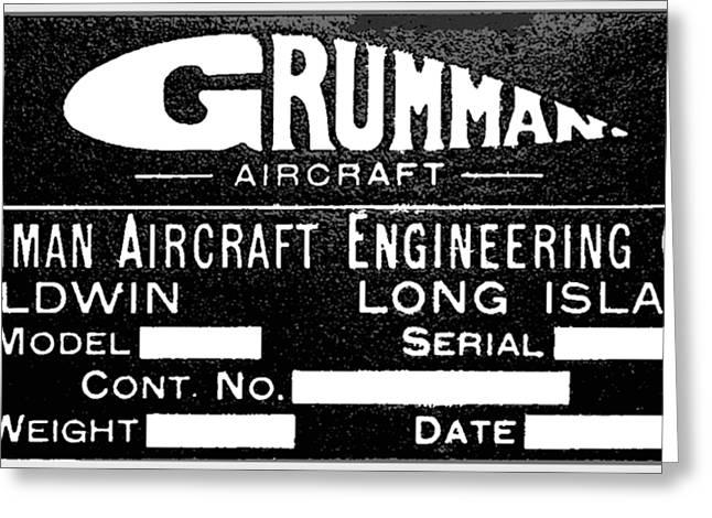 Grumman Product Plate Greeting Card
