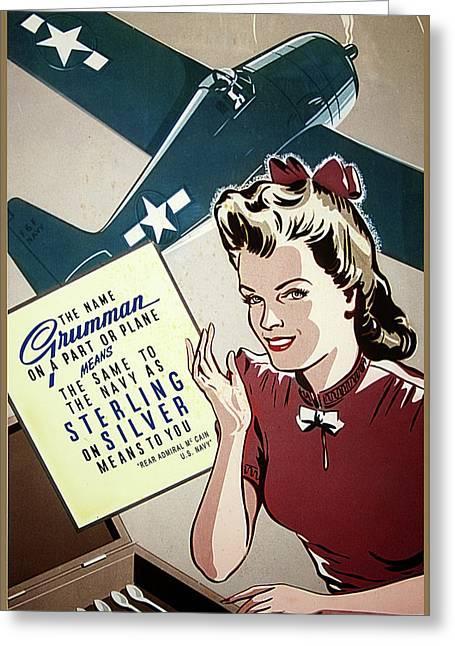 Grumman Sterling Poster Greeting Card