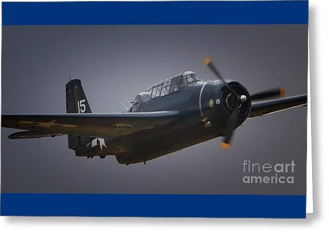 Grumman Tbf Avenger No.15 Greeting Card by Gus McCrea