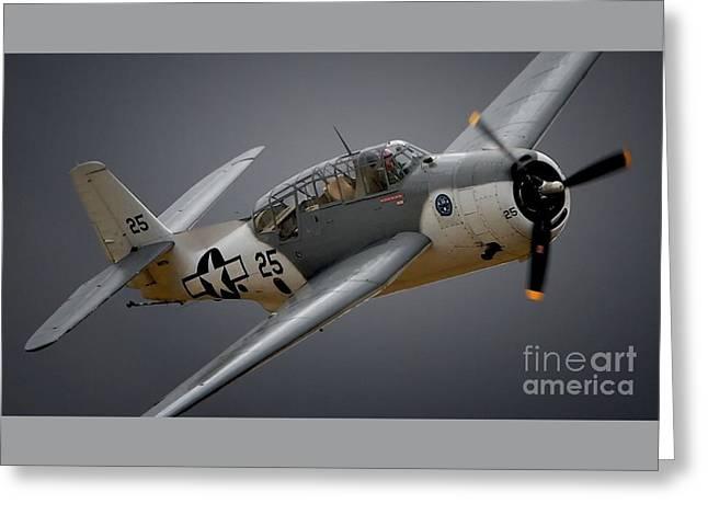 Grumman Tbf Avenger No.25 Greeting Card by Gus McCrea