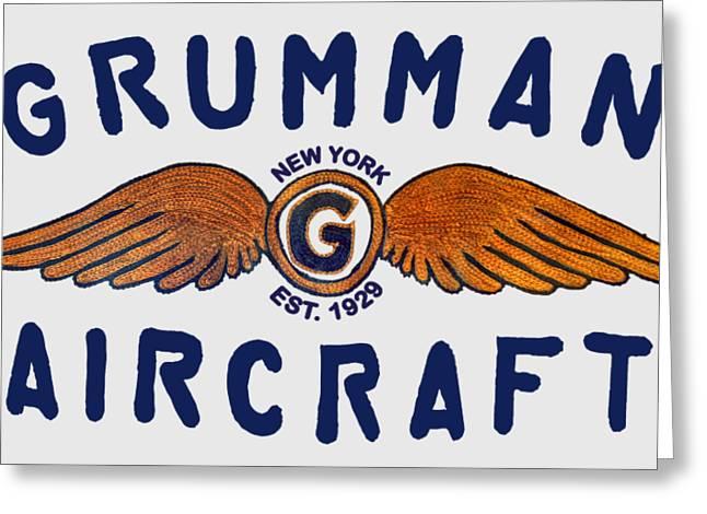 Grumman Wings Blue Greeting Card