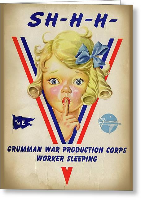 Grumman Worker Sleeping Poster Greeting Card