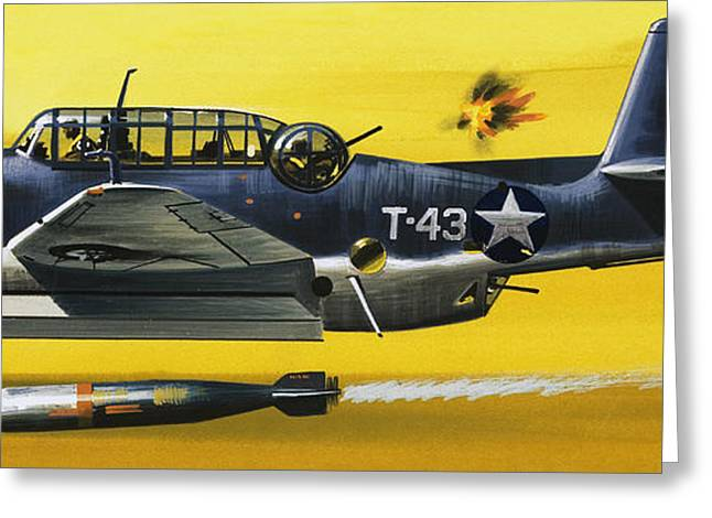 Grummen Tbf1 Avenger Bomber Greeting Card