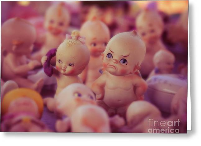 Grumpy Kewpie Doll Greeting Card