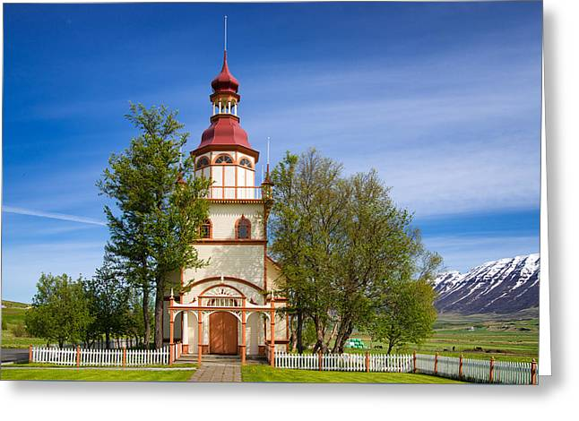 Grundarkirkja Church North Iceland Europe Greeting Card by Matthias Hauser