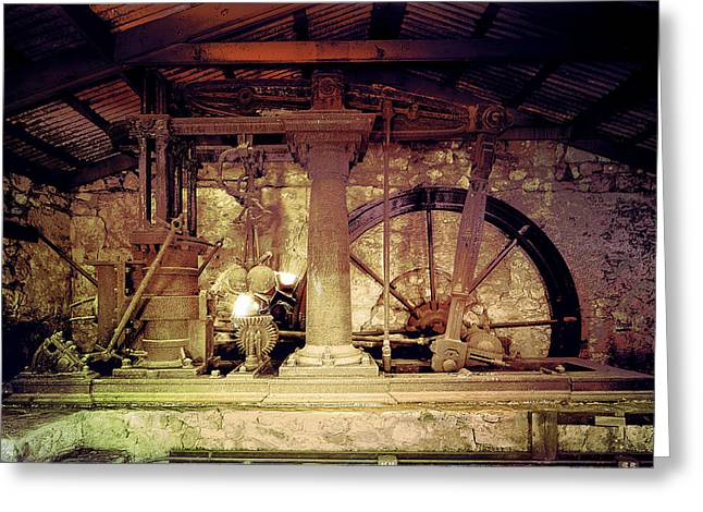 Greeting Card featuring the photograph Grunge Cane Mill by Robert G Kernodle