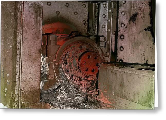 Greeting Card featuring the photograph Grunge Gear Motor by Robert G Kernodle