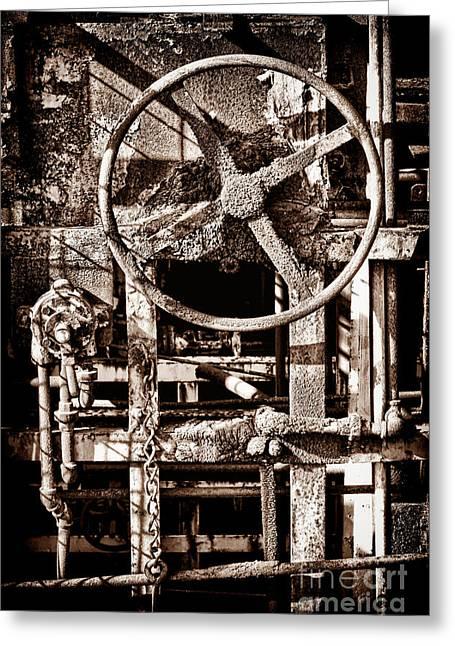 Grunge Machinery Greeting Card