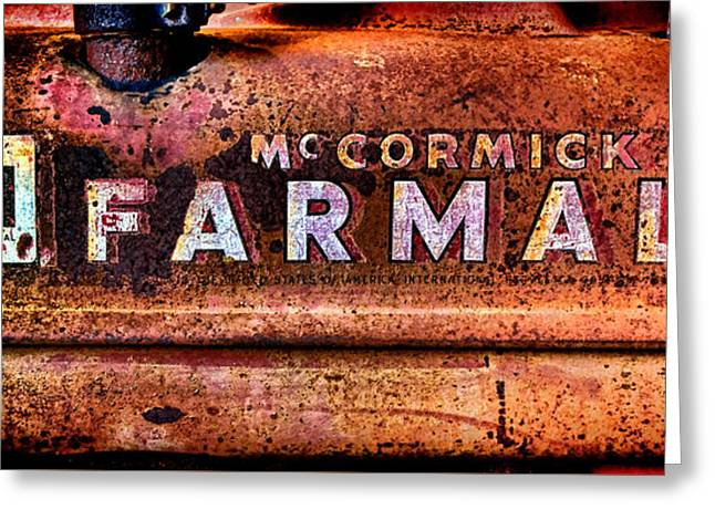 Grunge Mccormick Farmall  Greeting Card by Olivier Le Queinec