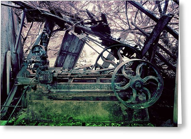 Greeting Card featuring the photograph Grunge Steam Engine by Robert G Kernodle