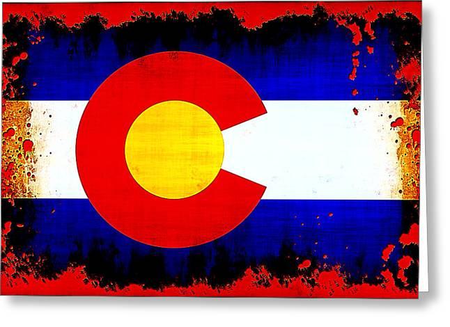 Grunge Style Colorado Flag Greeting Card
