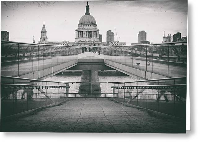 Grungey St Pauls Greeting Card by Martin Newman