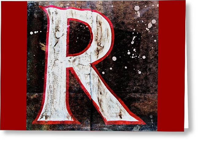 Grungy Letter R Greeting Card
