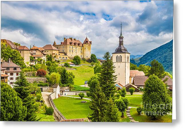 Gruyeres Greeting Card by JR Photography