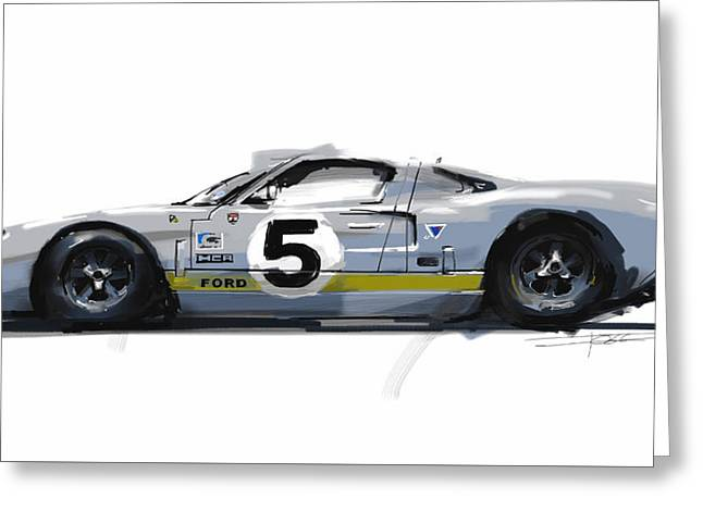 Gt40 Greeting Card