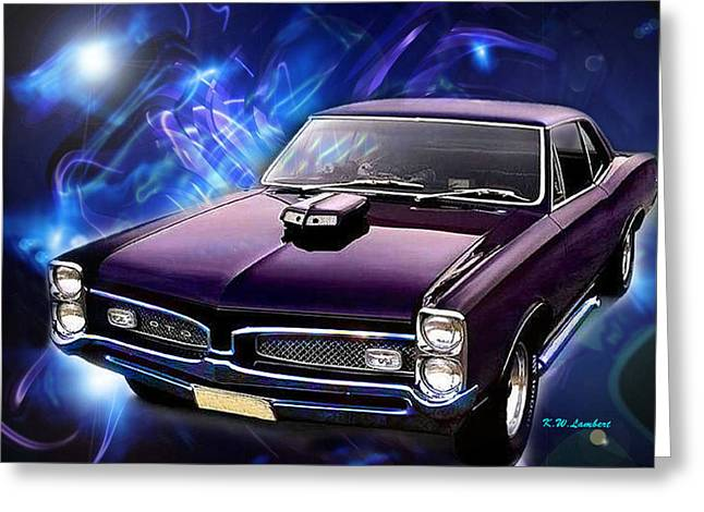 GTO Greeting Card by Kenneth Lambert