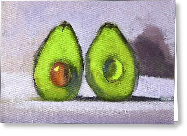 Greeting Card featuring the painting Guacamole by Nancy Merkle